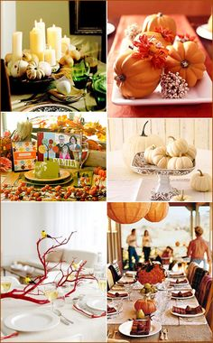 I love white pumpkins, candles, fancy dinner parties with friends..... and Thanksgiving.