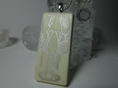 Clay Lobster Necklace by PohdDesign on Etsy, $15.00