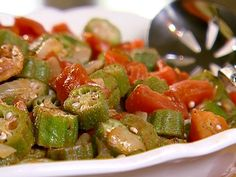 Okra Tomatoes and Bacon