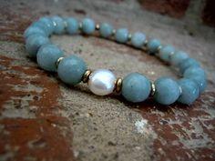 Peace & Harmony / Yoga Bracelet / Wrist Mala / Yoga by Syrena56, $34.00