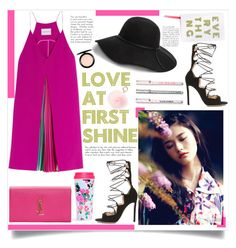 """""""No 312:Love At 1st Shine"""" by lovepastel ❤ liked on Polyvore featuring Mary Katrantzou, Gianvito Rossi, GUESS, Yves Saint Laurent, RAJ, MAC Cosmetics, women's clothing, women, female and woman"""