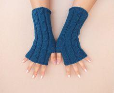 eldiven, örme eldiven, unisex fingerles eldiven, mavi eldiven, erkek ve kadın, sevgililer günü, yılbaşı, ücretsiz gemi için eldivenler