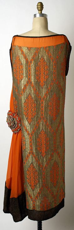 Evening dress Liberty & Co. (British, founded London, 1875) Date: 1920–25 Culture: British Medium: silk. Back