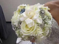 My beautiful flower/brooch bouquet.  12-1-12