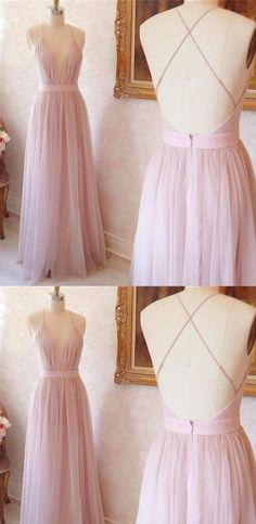 Long Prom Dresses, Pink Prom Dresses, Discount Prom Dresses, Prom Dresses Long, Prom Long Dresses, Long Evening Dresses, V Neck dresses, Criss-Cross Prom Dresses, Criss Cross Prom Dresses, V-Neck Prom Dresses