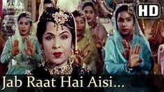 Jab Raat Hai Aisi Matwali - Nigar Sultana - Dilip Kumar - Mughal-E-Azam ...  Movie: Mughal-E-Azam Music Director: Naushad Singers: Lata Mangeshkar Director: K Asif