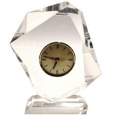 Modernist Lucite Clock #1960s #midcentury #clock #lucite #glam #gold #hollywoodregency #rare (via @1stdibs)