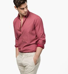 SLIM-FIT FLORAL-PRINT SHIRT by Massimo Dutti