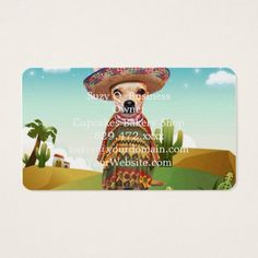 #Mexican dog chihuahua business card - #chihuahua #puppy #dog #dogs #pet #pets #cute