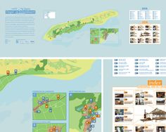 Map that was designed for theatre festival Oerol. This festival is hosted on one of the Dutch islands, Terschelling. The map gives a overview of local