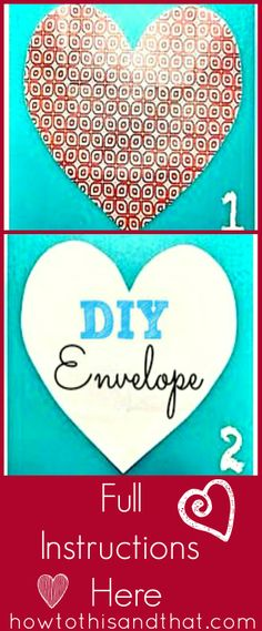 DIY Handmade 2 -In- 1 Letter & Envelope Tutorial. A quick and easy make your own envelope tutorial , this will have everyone talking! Cute Valentine Ideas, Valentine Day Crafts, Love Valentines, Envelope Tutorial, Diy Envelope, Paper Crafts Origami, Scrapbook Paper Crafts, Scrapbooking, Diy Crafts For Gifts