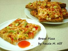 Bread Pizza | Fauzias Kitchen Fun