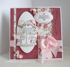 craft happy ann: to a treasured friend Valley Girls, Cards For Friends, Lily Of The Valley, Copic Markers, Crafts To Do, Birthday Cards, Projects To Try, Crafty, Coffee Break