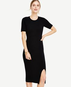 ffe4d9ad27 ANN TAYLOR Sweater Sheath Dress.  anntaylor  cloth  dress Black Sweater  Dress