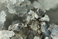 Sylvanite, (Au,Ag)2Te4, Emperor Mine, Vatukoula, Tavua Gold Field, Viti Levu, Fiji. Fov 3 mm.  Copyright © Stephan Wolfsried 4/2015