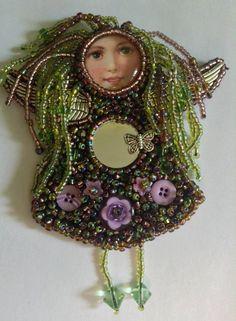 Dread beaded angel doll brooch by teresaball1974 on Etsy, £15.00