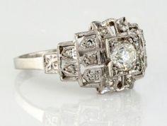 $1150.00Platinum Diamond Estate Ring I-9499 #Diamond Rings #Platinum