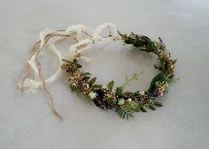 Greenery Headdress -Greek Goddess Flower crown-  barn wedding accessories bridal headpiece by Michele at AmoreBride original vine hairwreath...