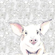I seriously have too many favorites from this artist.  How cute is this little pig?