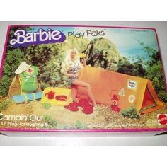 Mattel 1980 Vintage Barbie Play Paks Campin' Out (Camping Out) Barbie Playsets, Barbie I, Barbie World, Mattel Barbie, Barbie And Ken, Barbie Stuff, Barbie Camper, Vintage Toys 80s, Retro Toys