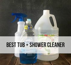 This really is the BEST tub and shower cleaner! First of all, let me say, cleaning really isn't one of my strengths. Like, at all. Just ask my husband…or anyone who has been to my house…