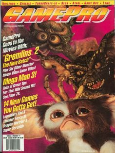 Looking for information on GamePro Issue 16 from November Read more about this magazine at Retromags! Gaming Magazines, Video Game Magazines, Apple Ii, Classic Video Games, My Magazine, School Games, All Games, Gremlins, Gaming Computer