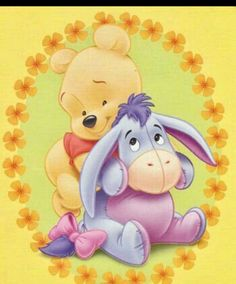 Winnie the Pooh and Eeyore. Cute Winnie The Pooh, Winne The Pooh, Winnie The Pooh Quotes, Winnie The Pooh Friends, Baby Quotes, Eeyore Pictures, Disney Pictures, Eeyore Images, Pooh Bear