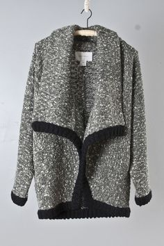 looks cozy. would pair with black skinnies and boots to keep it from looking old lady-ish.