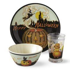 Vintage Halloween Kids Melamine Dinnerware Set #williamssonoma