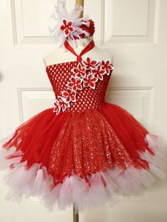 Xmas, Christmas, Holiday, Snowflake tutu dress, snow fairy costume, birthday, party,. $59.99, via Etsy.