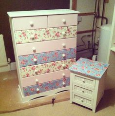 DIY Makeover – Decoupage Chest of Drawers
