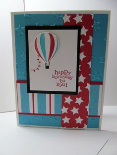 HOT AIR BALLOON Happy Birthday to You Hand by PrettyOnPaperShop, $4.00