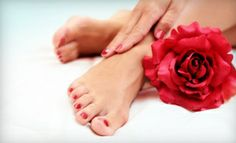 Groupon - Deluxe Pedicure with Option for Shellac Manicure, or Full Set of Acrylic Nails at Younique Soul Nail Bar (Up to 58% Off) in Louisville (East Louisville). Groupon deal price: $15.00