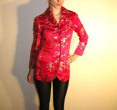 Asiatische Cherry Blossom Floral Print Blazer / Jacke von JustGiza