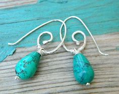 http://www.etsy.com/listing/76518094/turquoise-drops-earrings-sterling-silver