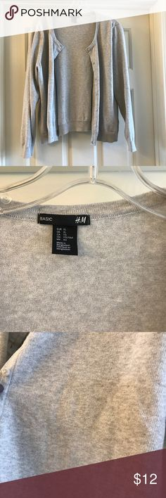 XL H&M gray cardigan EUC. Gray cardigan heathered with cream. Bundle and save. H&M Sweaters Cardigans