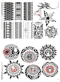 Polynesian Tattoo Flash | Polynesian and Maori Tattoo Flash Book #maori #tattoo #tattoos #samoan #tattoo