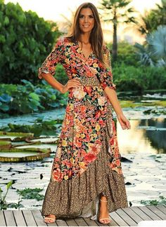 can you find this dress? Estilo Fashion, Spanish Style, Calvin Klein, Cool Outfits, Floral Prints, Prom Dresses, Bohemian Dresses, Stitch Fix, Womens Fashion
