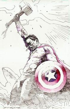 Superman x Thor x Captain America by Esad Ribic
