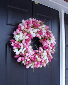 Spring Wreath Front Door Spring Decoration by elegantholidays, $90.00