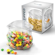 The Unzipped Glass Snack Sweet Jar from Fred & Friends is designed to look like a plastic ziplock bag. A fun, novel & quirky way to serve snacks and sweets. Snack Jars, Sweet Jars, Goldfish Bowl, Hand Blown Glass, Glass Jars, Safe Food, Dog Food Recipes, The Creator, Sweet Treats
