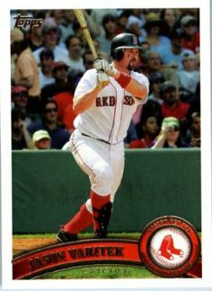 2011 Topps Baseball Card #115 Jason Varitek - Boston Red Sox - MLB Trading Card In A Protective Screwdown Case by Topps. $2.95. This is just one of 330 cards available from this great set !. Look for thousands of other great sportscards of your favorite player or team. Card is in a protective screwdown case to preserve its condition!. NOTE: Stock Image Used. Great looking 2011 Topps Baseball Card!. 2011 Topps Baseball Card #115 Jason Varitek - Boston Red Sox - MLB Trading ...