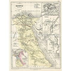 Ancient Egypt Map, 1865 (€75) ❤ liked on Polyvore featuring home, home decor, wall art, map home decor, ancient egyptian wall art and map wall art