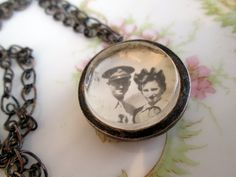 Wish I had one of these with my mother and daddy. Antique Locket, Those Were The Days, Human Condition, Silver Coins, To My Future Husband, Wwii, Trench, Pocket Watch, Mystery