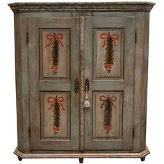Painted Pine Armoire | From a unique collection of antique and modern wardrobes and armoires at https://www.1stdibs.com/furniture/storage-case-pieces/wardrobes-armoires/