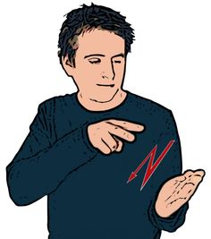 Read Description: Secondary hand held open with palm facing signer. Primary hand with index and middle fingers extended ('V' shape) makes a zig-zag motion above secondary hand. Definition: To look at and understand the meaning of something written. Baby Sign Language Video, Sign Language Words, Sign Language Alphabet, Learn Sign Language, British Sign Language Dictionary, American Sign Language, Learn Bsl, Makaton Signs, Palm Reading
