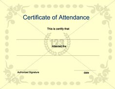 Certificate of Attendance Template for Free and Premium Download #Certificate #Template