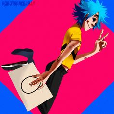 Gorillaz, 2d, humans, Stuart pot