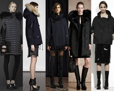 CITY SLICKERS.Winter-ready jackets in black at Valentino, Yigal Azrouel, 3.1. Phillip Lim, Belstaff, Bottega Veneta