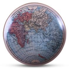 Map of the (Eastern) World Ceramic Wall Plate. This looks great with other wall decor (prints, posters and plates mixed can look great).